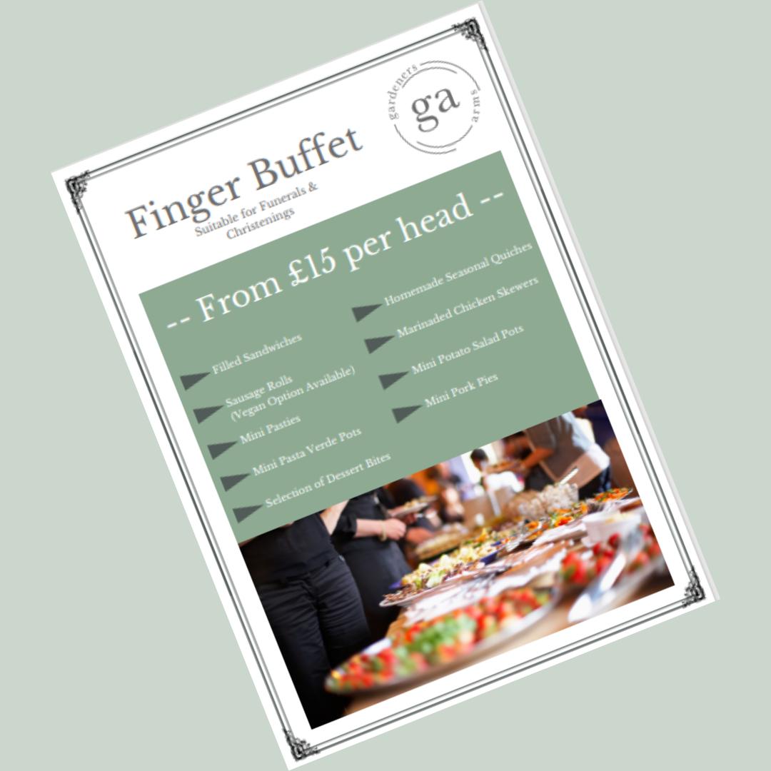Finger Buffet menu